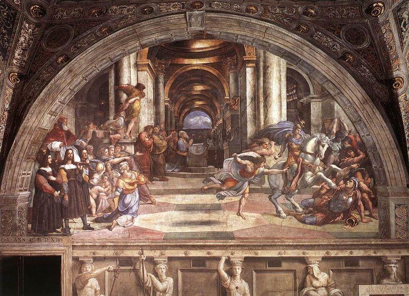 Raffaello Sanzio: Stanza di Eliodoro - La cacciata di Eliodoro dal tempio