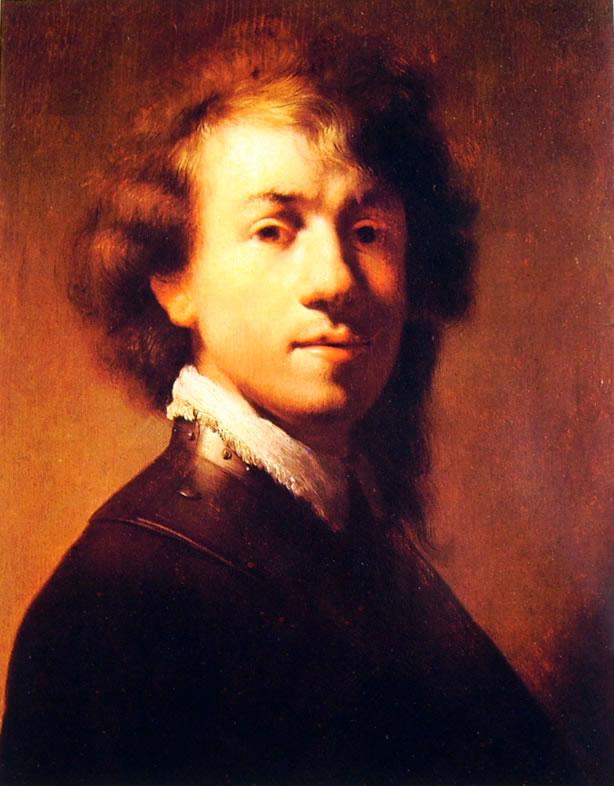 Rembrandt Harmenszoon Van Rijn: Autoritratto con gorgiera