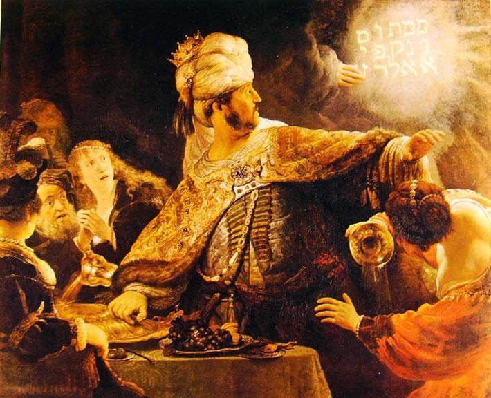 Rembrandt Harmenszoon Van Rijn: Il festino di Baltassar
