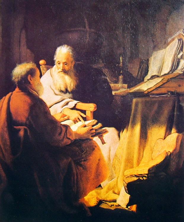 Rembrandt Harmenszoon Van Rijn: Colloquio di sapienti