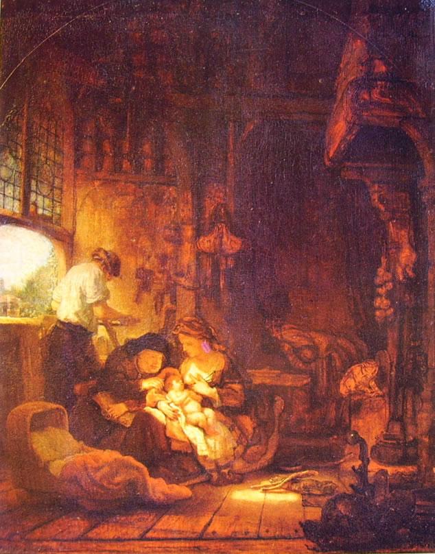 Rembrandt Harmenszoon Van Rijn: Sacra famiglia (Louvre a Parigi)