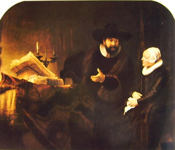 Rembrandt Harmenszoon Van Rijn: Ritratto di Cornelius Claesz Anslo con una donna