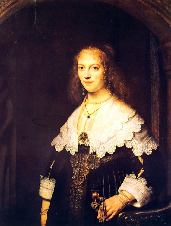 Rembrandt Harmenszoon Van Rijn: Ritratto di Maria Trip