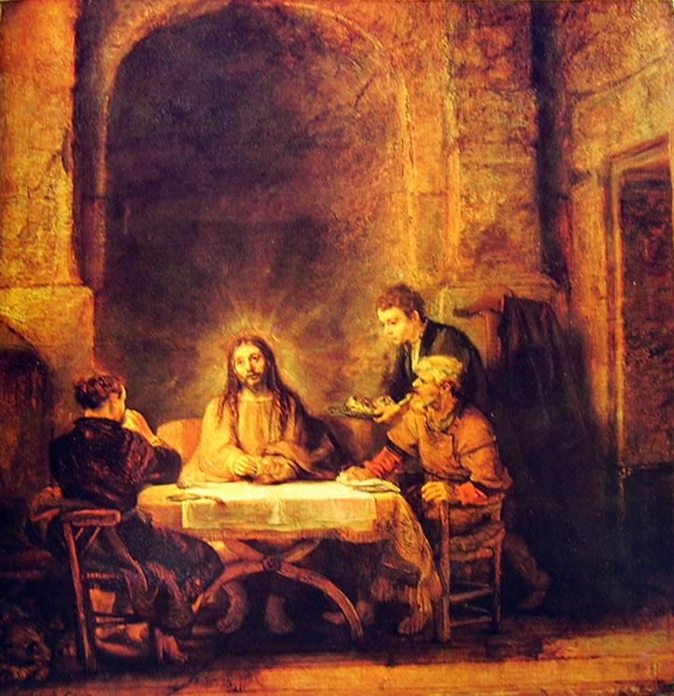 La cena in Emmaus di Rembrandt del Louvre