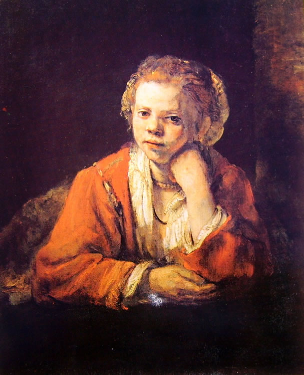 Rembrandt Harmenszoon Van Rijn: Fanciulla alla finestra (Stoccolma Nationalmuseum)