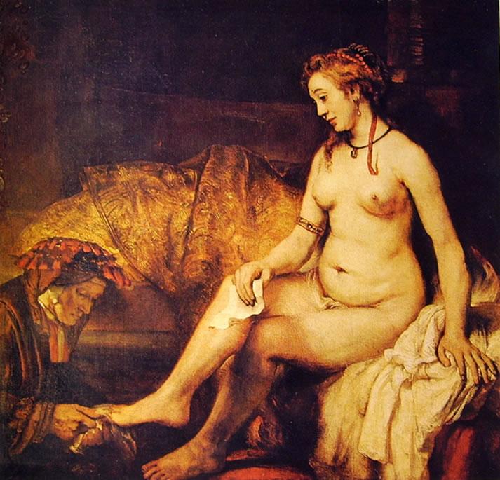 Rembrandt Harmenszoon Van Rijn: Betsabea con la lettera di David