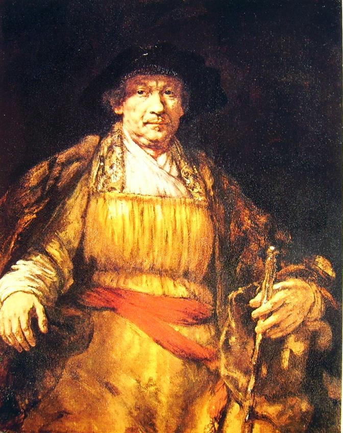 Rembrandt Harmenszoon Van Rijn: Autoritratto con bastone