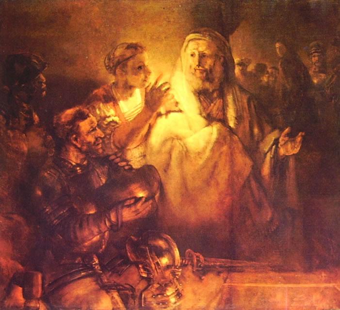 Rembrandt Harmenszoon Van Rijn: La negazione di Pietro