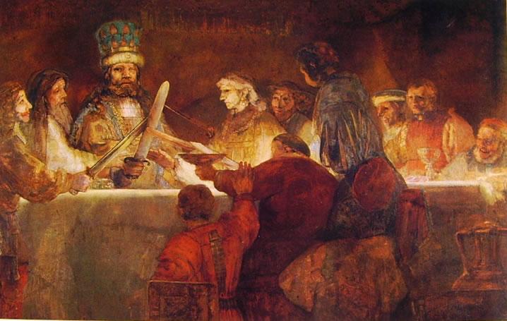 Rembrandt Harmenszoon Van Rijn: Il giuramento dei Batavi