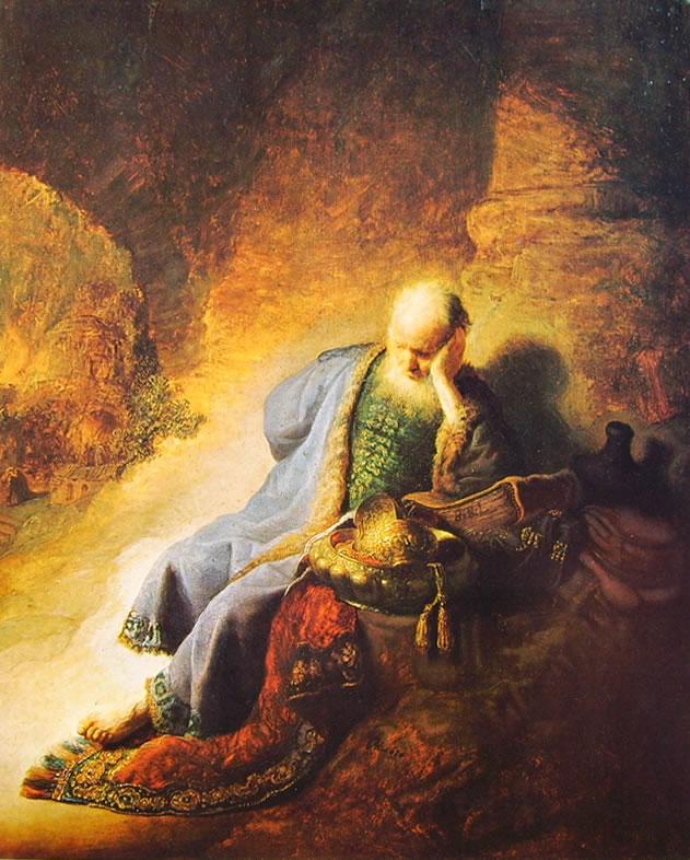 Rembrandt Harmenszoon Van Rijn: Geremia prevede la distruzione di Gerusalemme