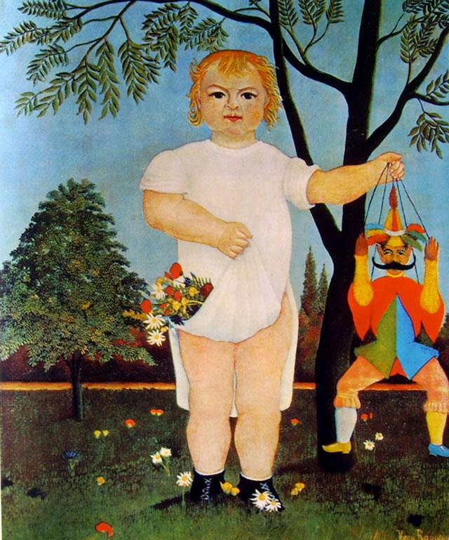 Rousseau il Doganiere: Bambino con marionetta