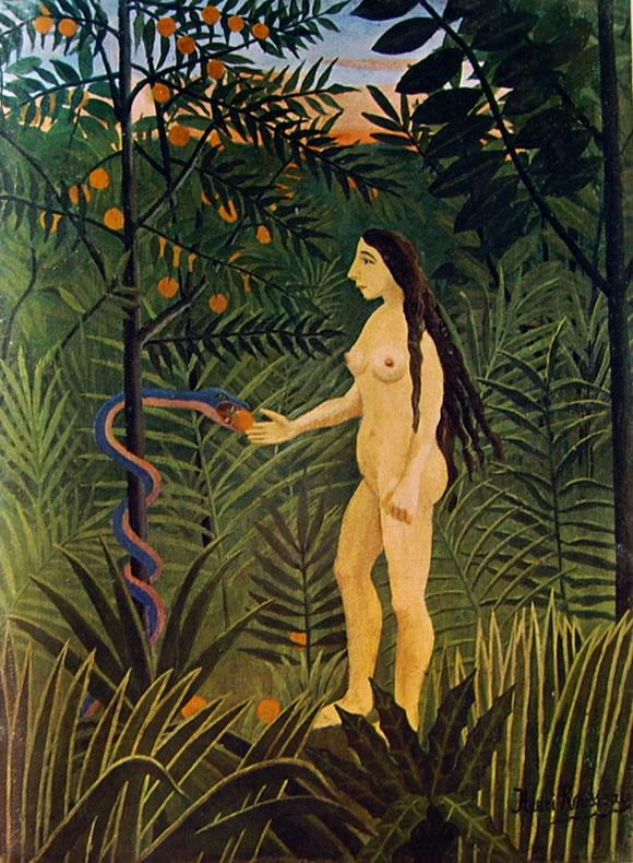 Rousseau il Doganiere: Eva riceve la mela