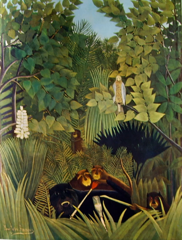 Rousseau il Doganiere: Gli allegri commedianti