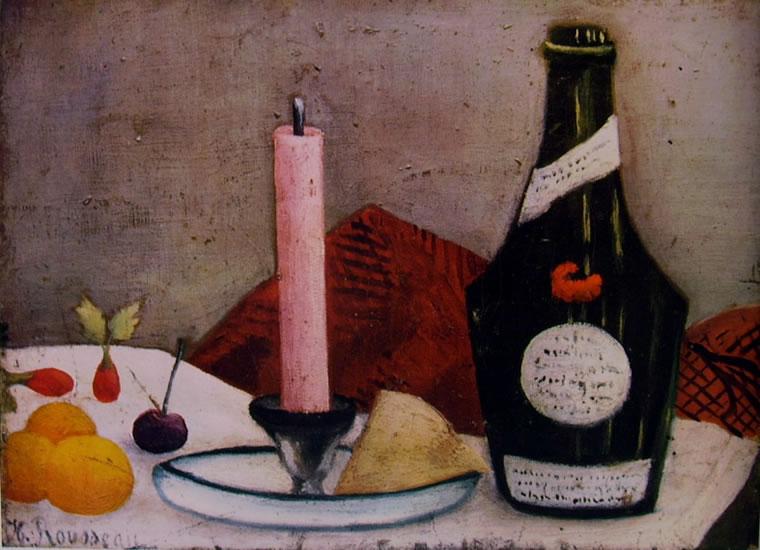 Rousseau il Doganiere: Natura morta con stearica rosa