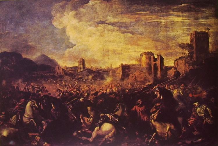 Salvator Rosa: Battaglia (tela grande)