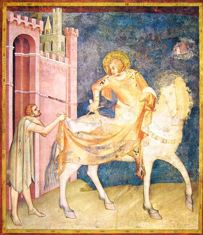 Storie di San Martino - La divisione del mantello