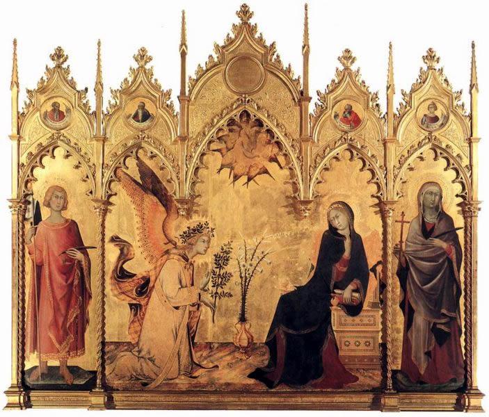 Simone Martini - Annunciazione (Uffizi)