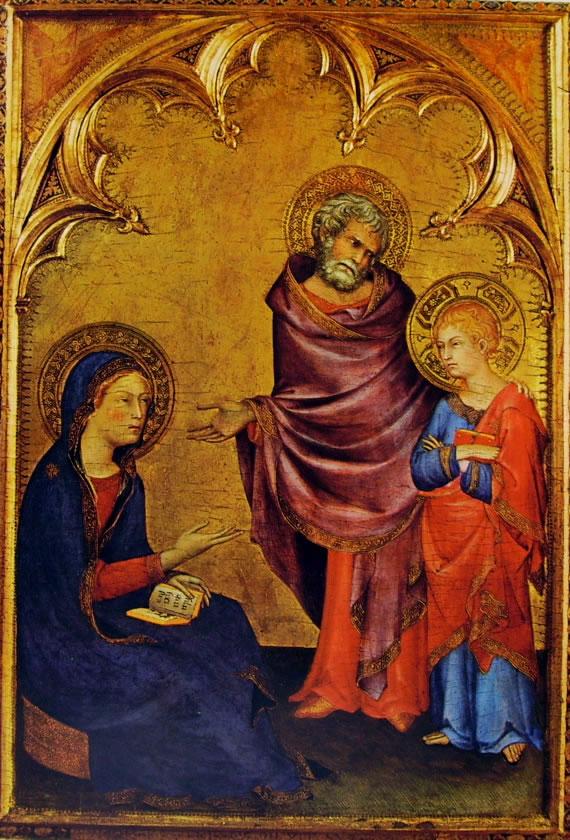 La Sacra Famiglia (Liverpool) di Simone Martini