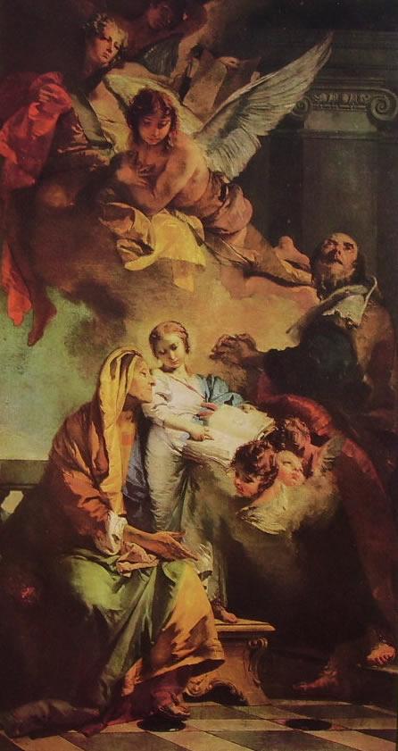 Il Tiepolo: L'educazione della Vergine
