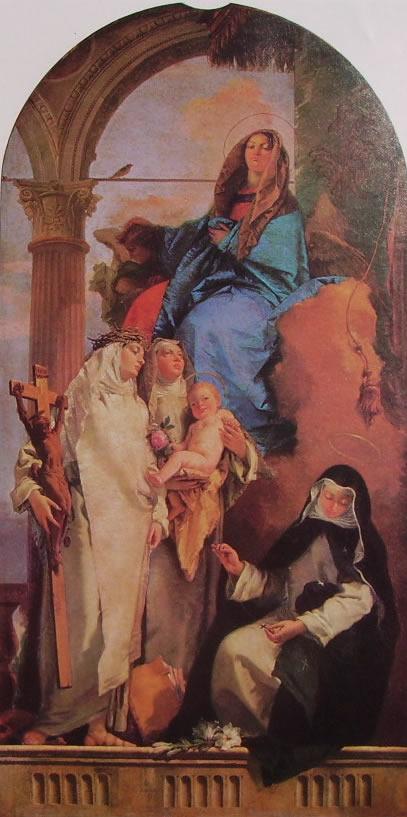Il Tiepolo: Madonna con le Sante Caterina, Rosa col Bambino e Agnese