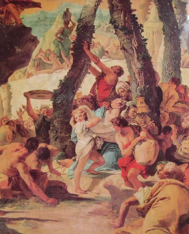 Il Tiepolo: La raccolta della manna (particolare)