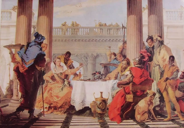 Il Tiepolo: Il banchetto di Cleopatra