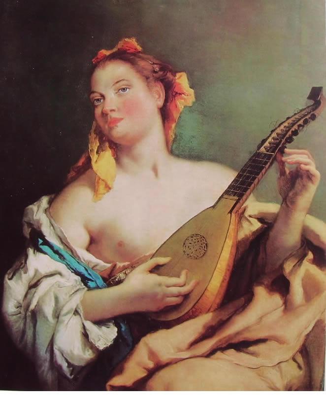 Il Tiepolo: Giovane che suona il mandolino