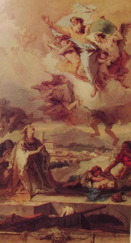 Il Tiepolo: Santa Tecla libera Este dalla pestilenza
