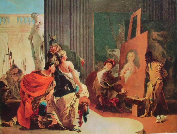 Il Tiepolo: Alessandro e Campaspe nello studio di Apelle