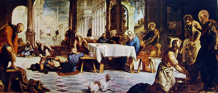 Tintoretto: La lavanda dei piedi (Prado)