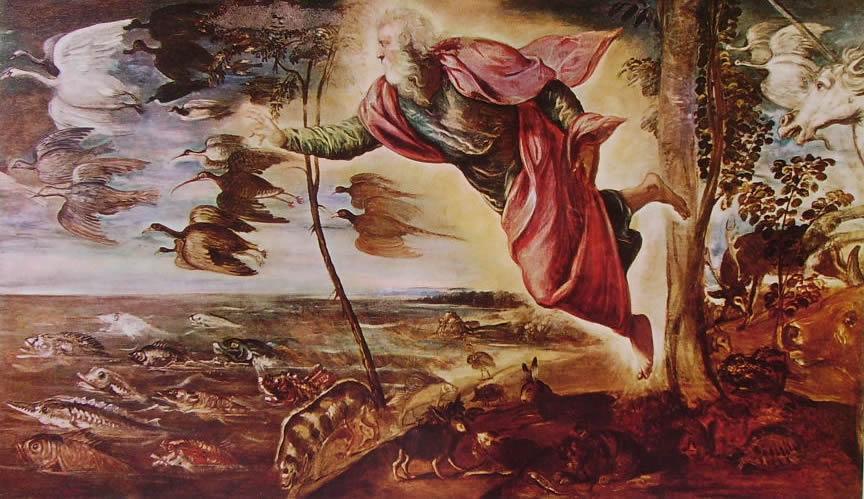 Il Tintoretto: La creazione degli animali (Accademia di Venezia)