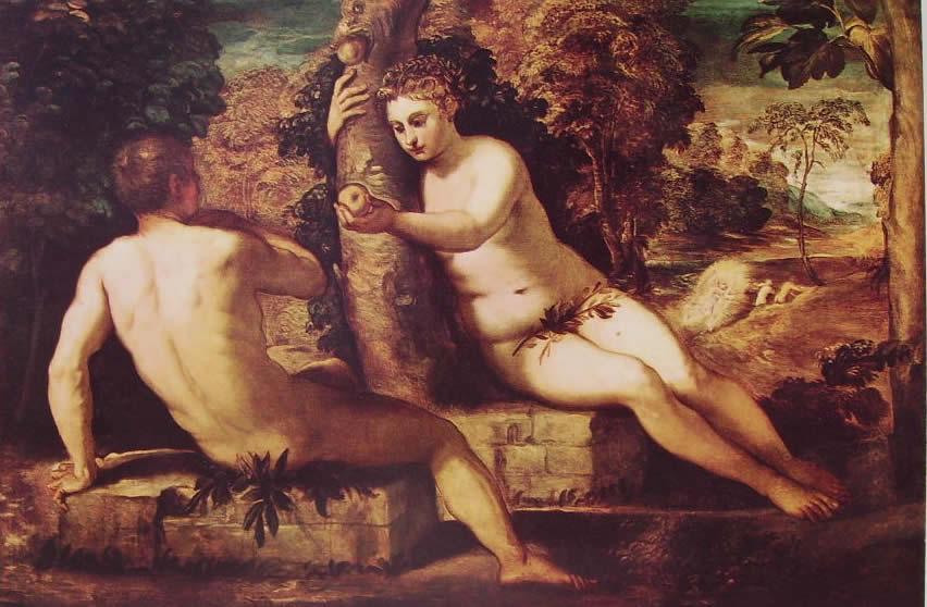 Il Tintoretto: Il peccato originale (Accademia di Venezia)
