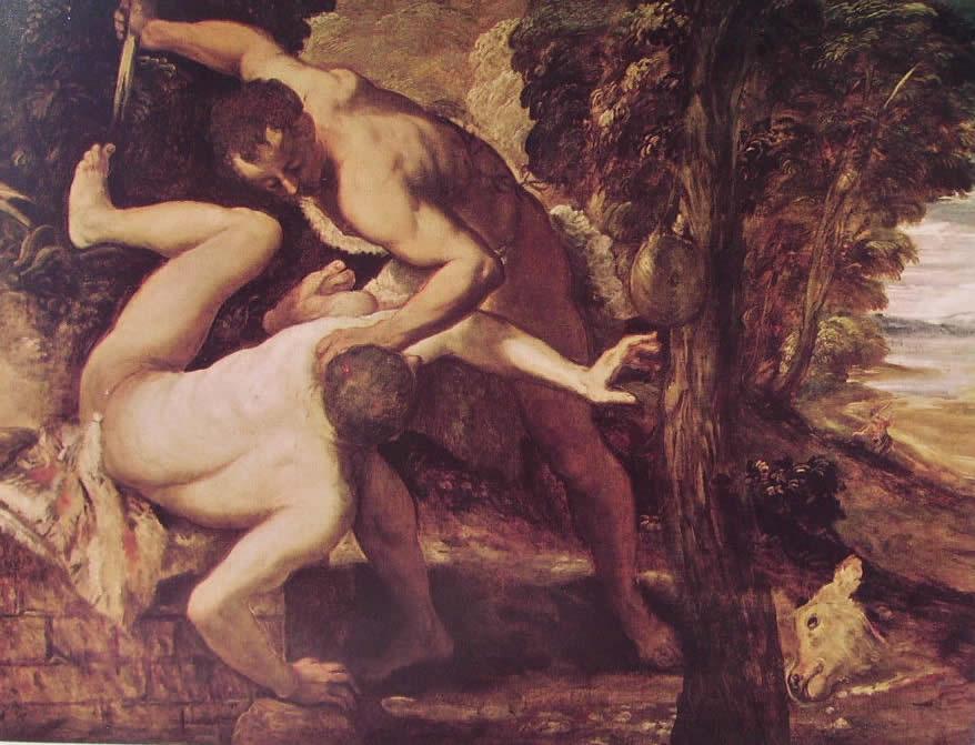 Il Tintoretto: Caino uccide Abele