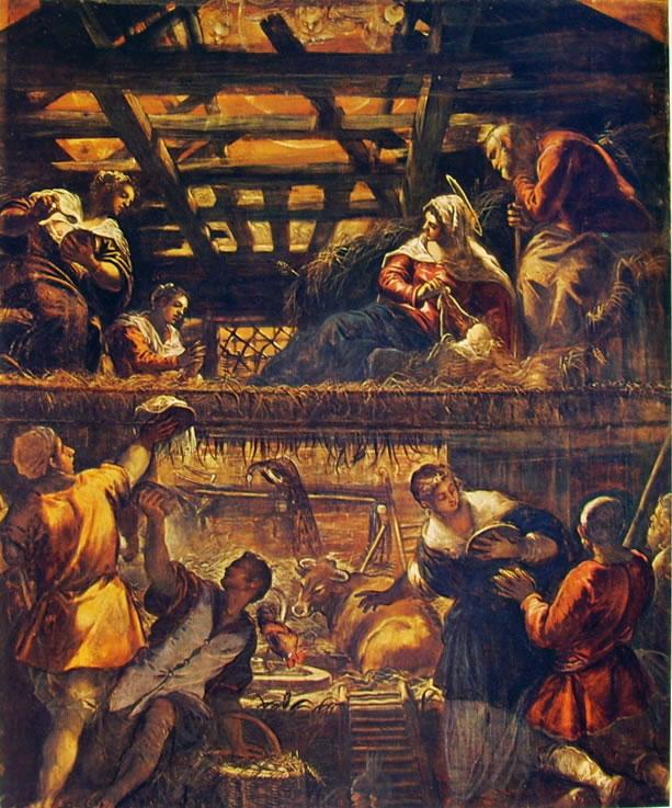 Il Tintoretto: L'adorazione dei pastori (Venezia)