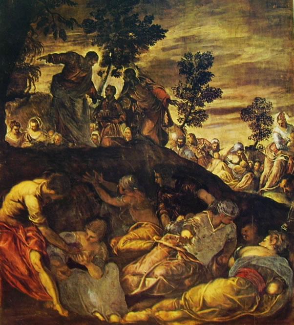 Il Tintoretto: Dipinti per la sala grande di San Rocco, La moltiplicazione dei pesci
