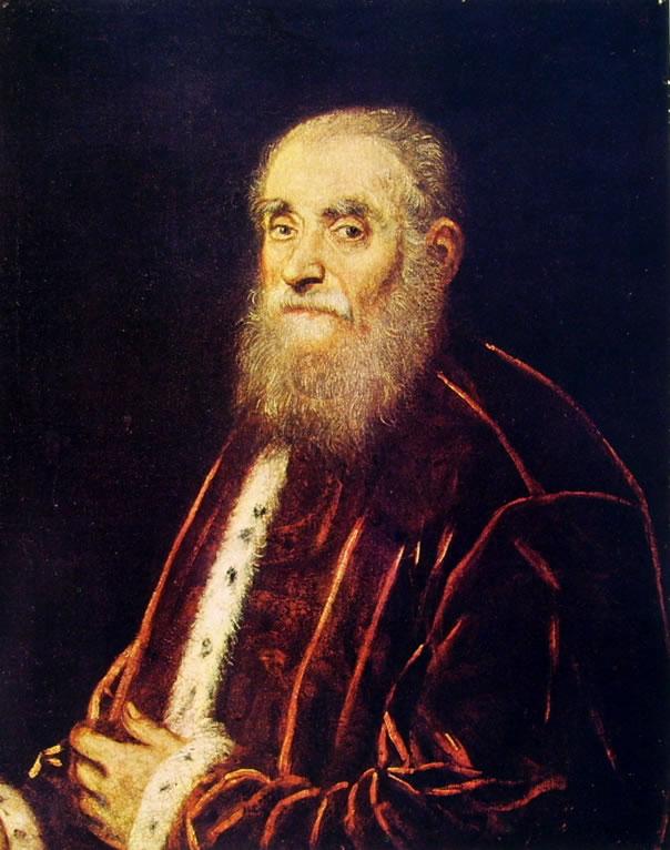 Il Tintoretto: Ritratto di senatore veneziano