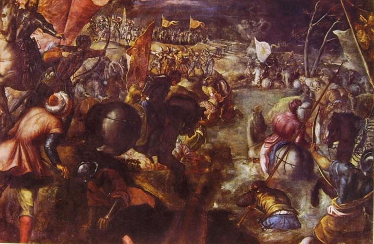Il Tintoretto: Francesco II alla battaglia del Taro (Monaco)
