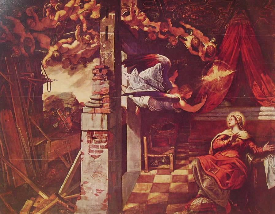 Tintoretto: L'Annunciazione (Scuola di San Rocco a Venezia)