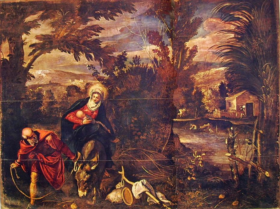 Il Tintoretto: Dipinti per la sala inferiore di San Rocco - Fuga in Egitto