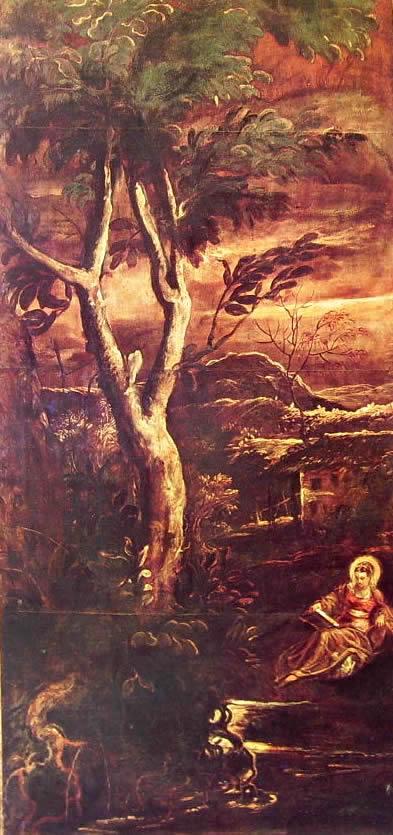 Il Tintoretto: Dipinti per la sala inferiore di San Rocco, Santa Maria Maddalena leggente
