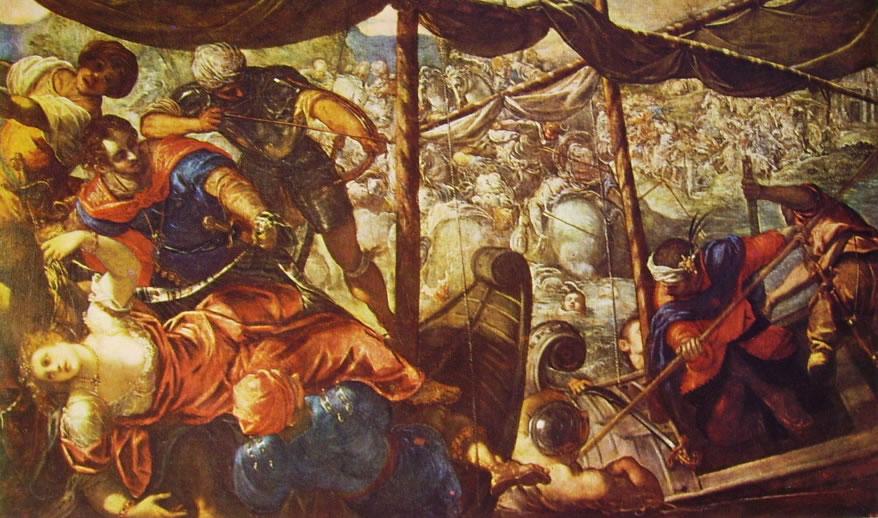 Il Tintoretto: Il ratto di Elena, o Battaglia navale