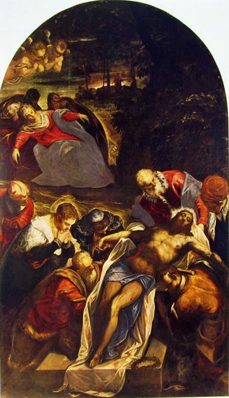 Il Tintoretto: La deposizione nel sepolcro (Chiesa di San Giorgio)