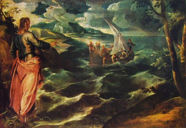 Il Tintoretto: Cristo sul mare di Galilea