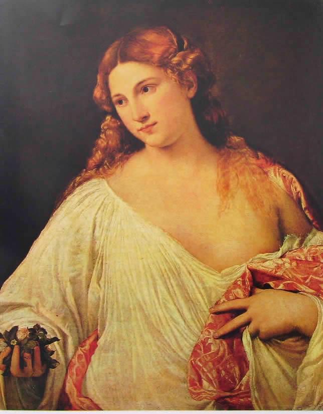 Tiziano: Flora (Galleria degli Uffizi di Firenze)