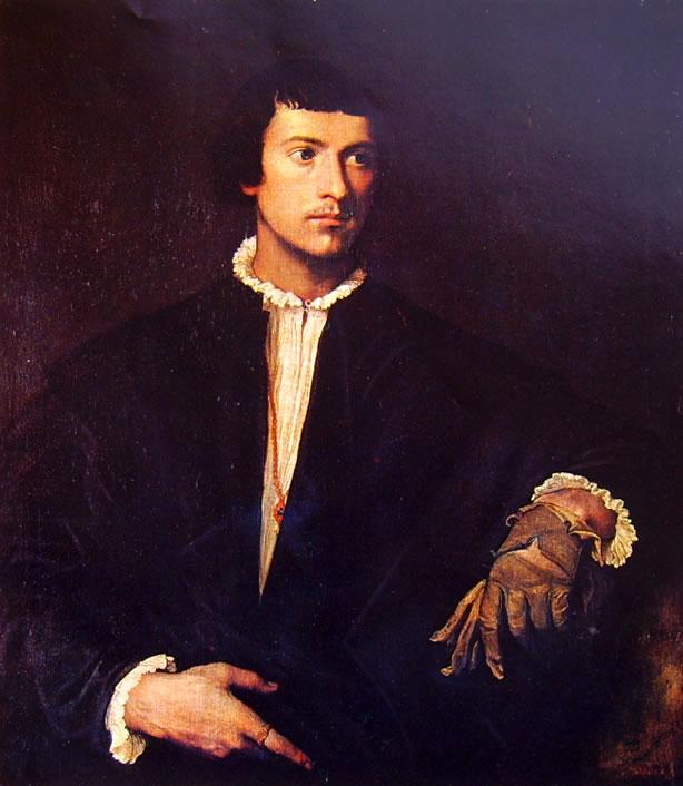 Tiziano: Ritratto d'uomo (l'uomo dal guanto)