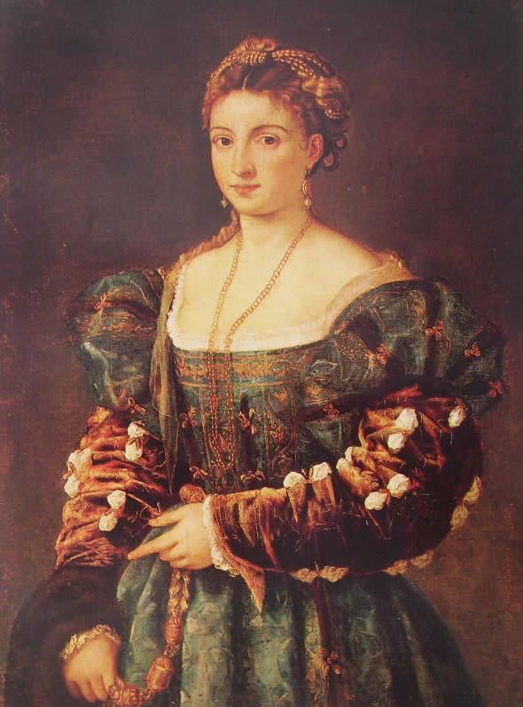 Tiziano: La bella (Palazzo Pitti)