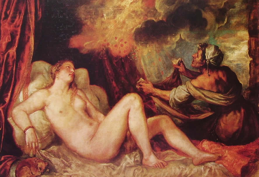 Tiziano: Danae del Museo del Prado