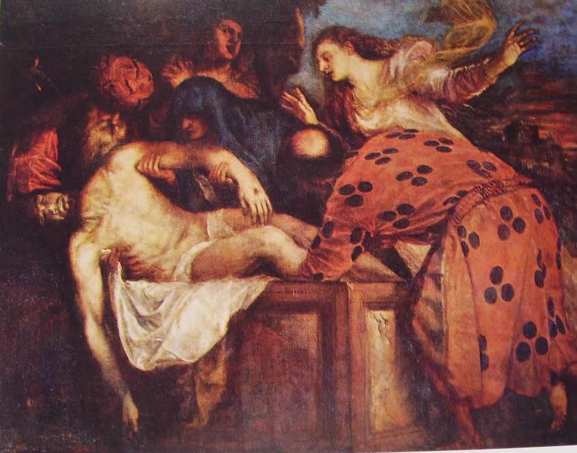 Tiziano: La deposizione nel sepolcro (Prado)