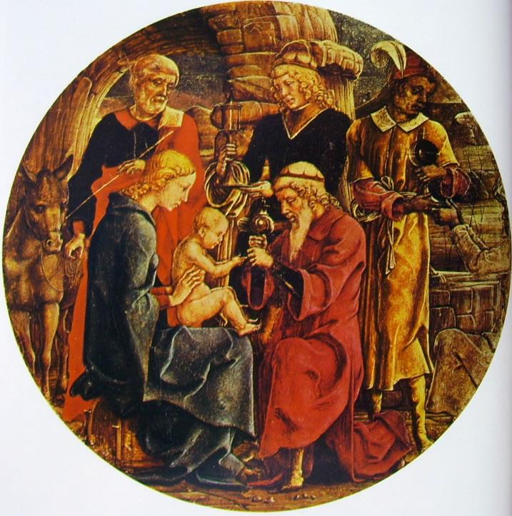 Cosmè Tura: Adorazione dei magi (Polittico di Roverella)
