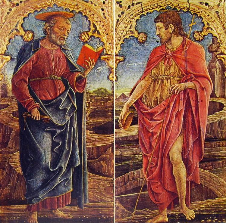 Cosmè Tura: San Pietro e San Giovanni Battista (Filadelfia)